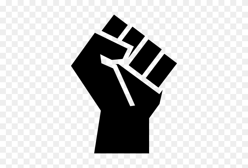 Fist Icon Png, Fist Bump Icons Noun Project - Black Power Fist PNG