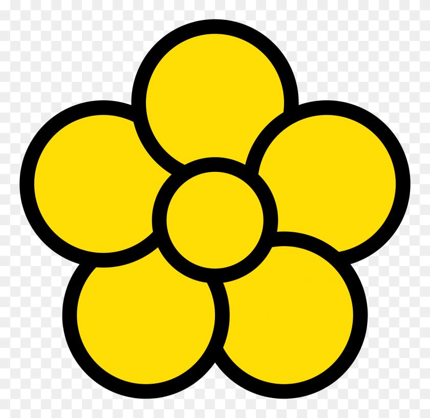 Five Petal Flower Icon - Flower Petal PNG
