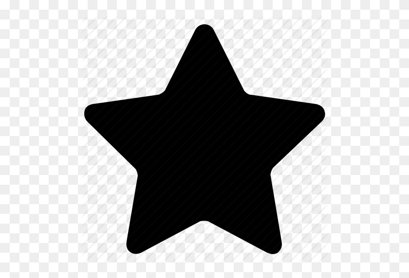 Five Pointed, Like, Star, Star Outline, Star Shape Icon Icon - Star Outline PNG