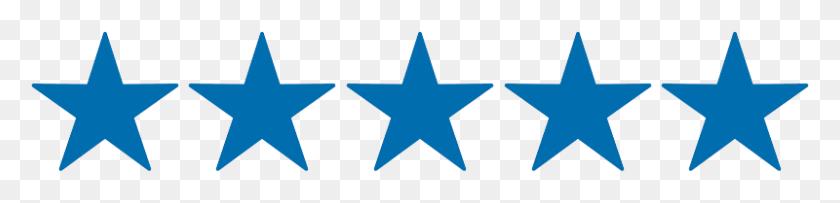 Five Stars Blue - Five Stars PNG