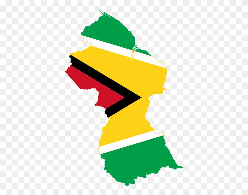 400x600 Flag Map Of Guyana - Lust Clipart