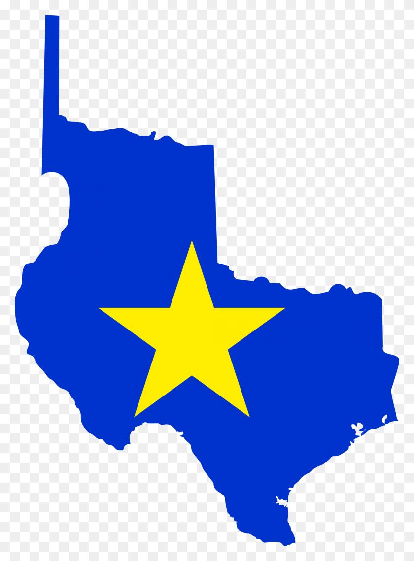 Flag Map Of Texas - Texas Flag Clip Art