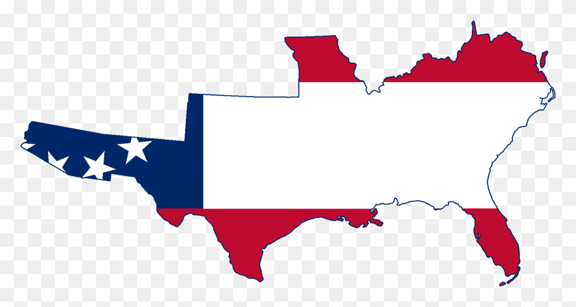 Map Of America Clipart.Flag Map Of The Greater Confederate States Of America Confederate