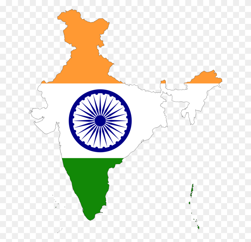 Flag Of India Map National Flag - Indian Flag Clipart