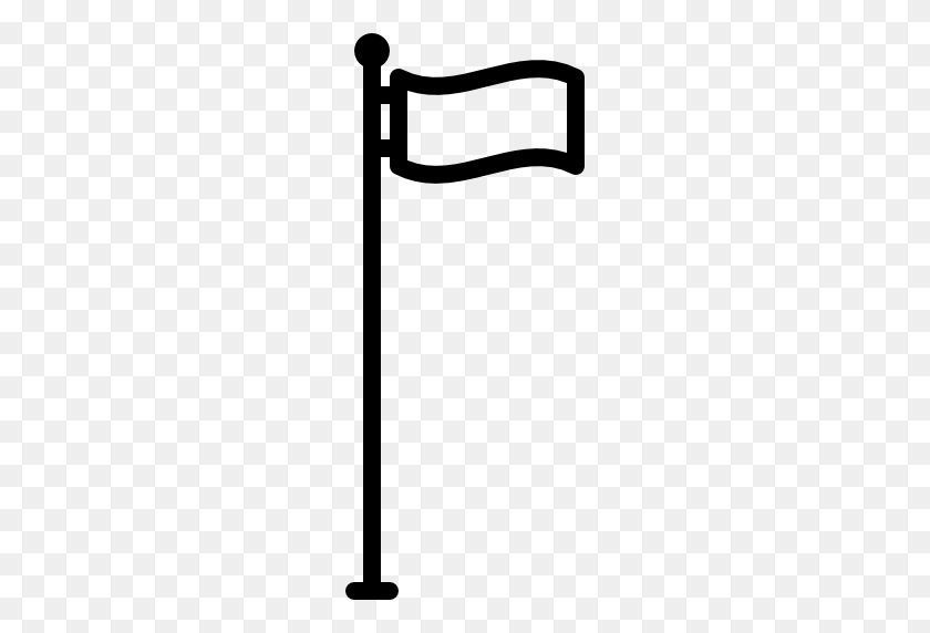 Flag Pole - Metal Pole PNG