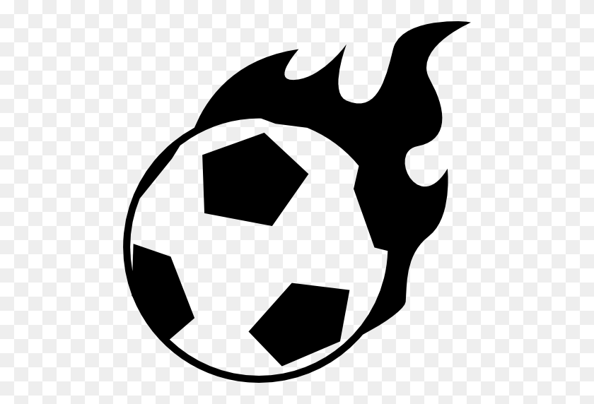 Flaming Football Asfan - Flaming Football Clipart