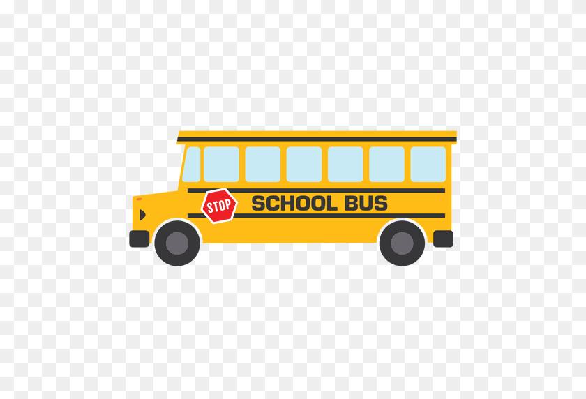 Flat Bus School Bus School - School Bus PNG