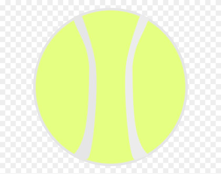 Flat Yellow Tennis Ball Clip Art - Tennis Net Clipart