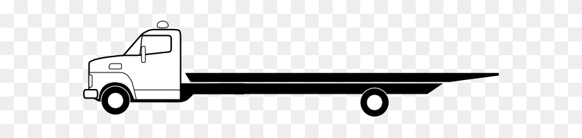Flatbed Truck Clipart - Semi Truck Clipart