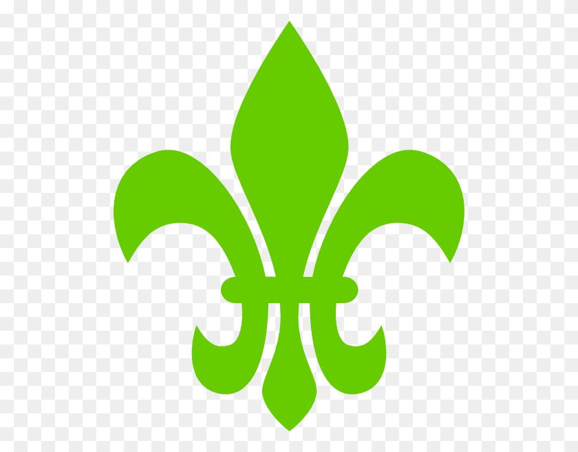 510x596 Fleur De Lis Green Png Large Size - Free Fleur De Lis Clip Art