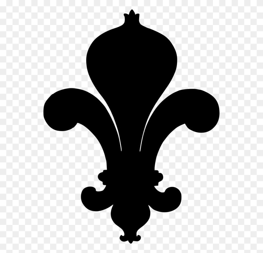 564x750 Fleur De Lis Silhouette World Scout Emblem - Free Fleur De Lis Clip Art