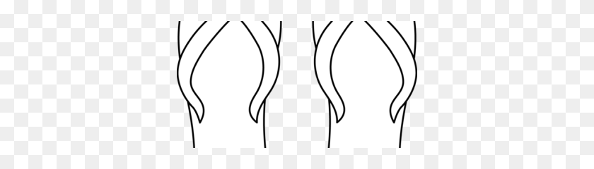 340x180 Flip Flop Border Clipart - Flip Flop Clipart