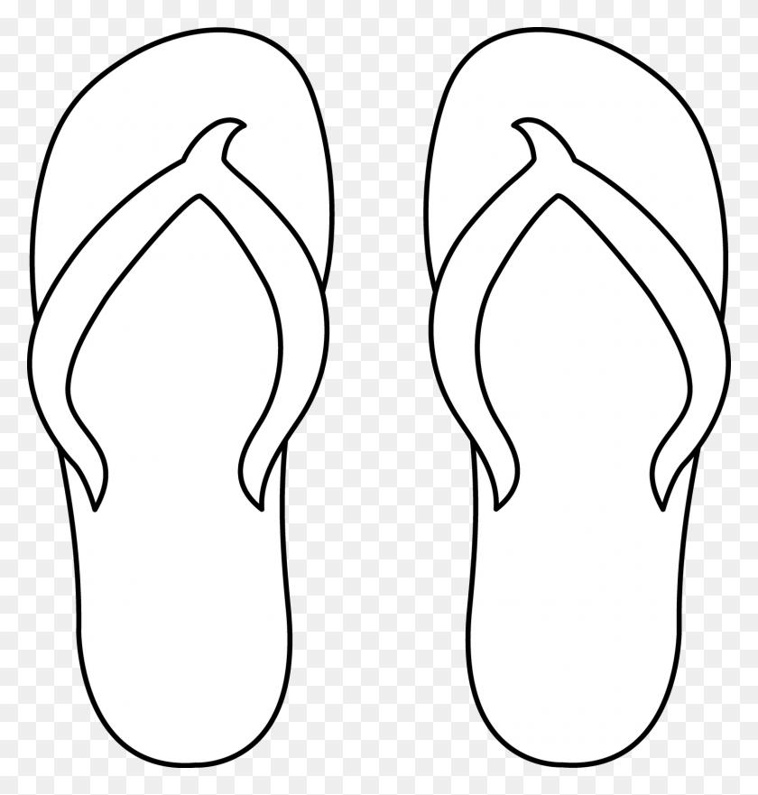 Flip Flop Silhouette Motivasi Dan Inspirasi Kid Art - Flip Flop Clipart Black And White