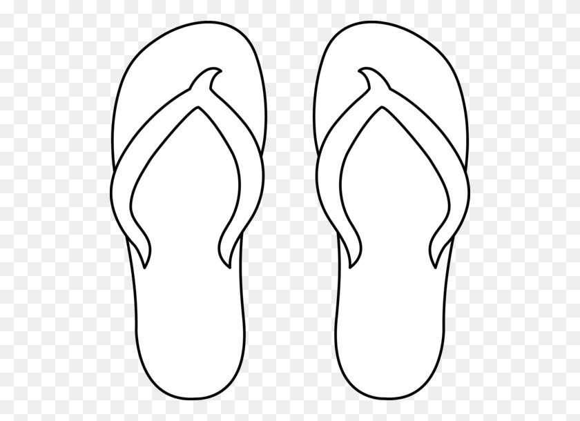 522x550 Flip Flops Clipart Black And White Free - Flip Flop Clip Art Free