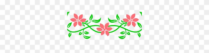 Floral Border Line Png Png Image - Border Line PNG