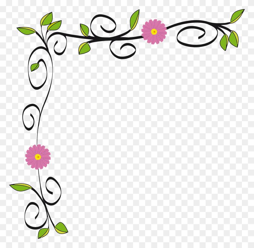 Floral Border Vectorized - Nautical Border Clip Art