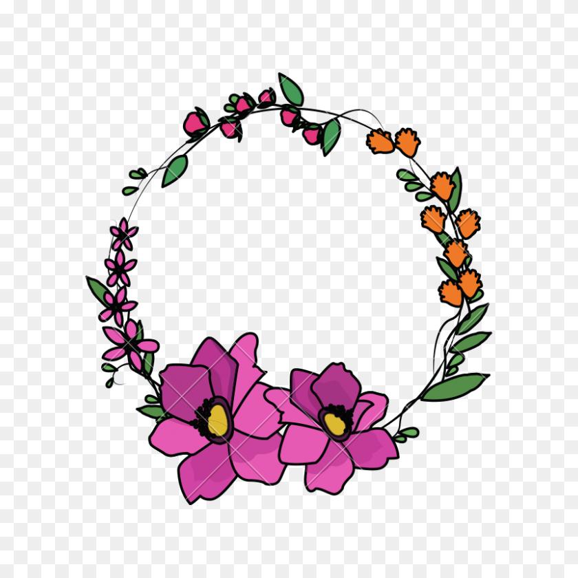 Floral Crown - Flower Crown PNG