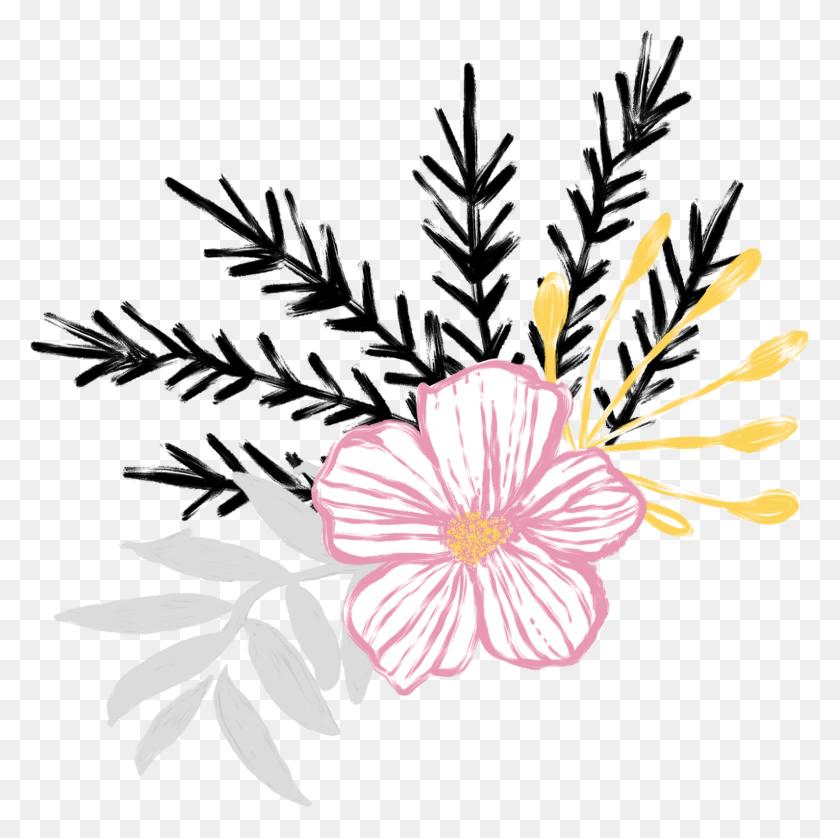 Floral Flower Flowers Weeds Plants Nature Designs Desi - Weeds PNG