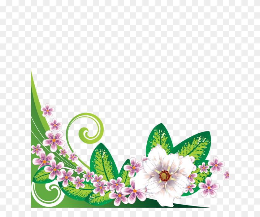 Floral Flowers Border, Floral, Flowers, Border Png - Floral Border PNG