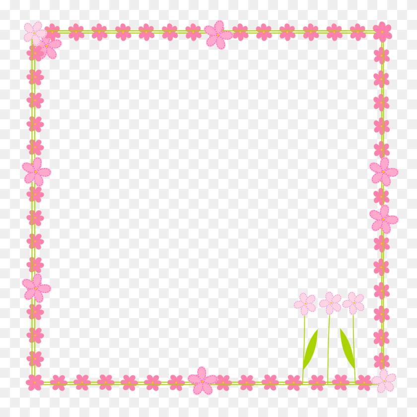 Floral Picture Frames Clipart - Spring Flower Border Clipart