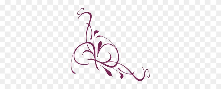 Floral Swirl Plum Clip Art - Plum Clipart