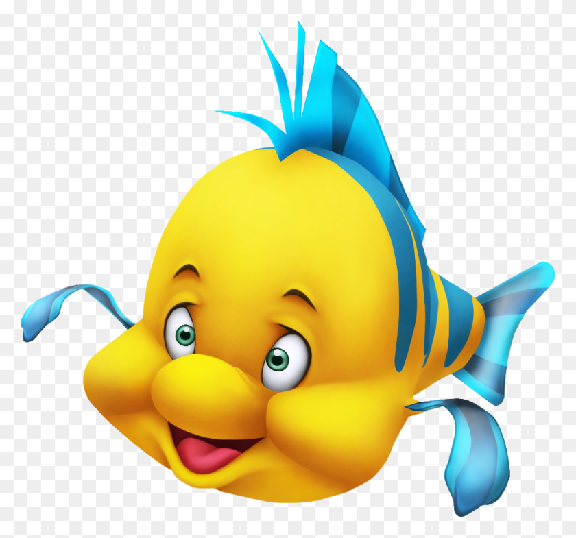 Flounder Animation - The Little Mermaid PNG