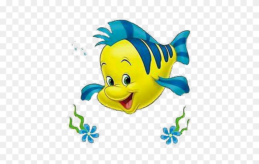 Flounder Disney Carton - Flounder PNG