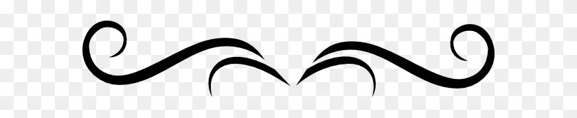 Flourish Black Clip Art - Simple Flourish Clipart
