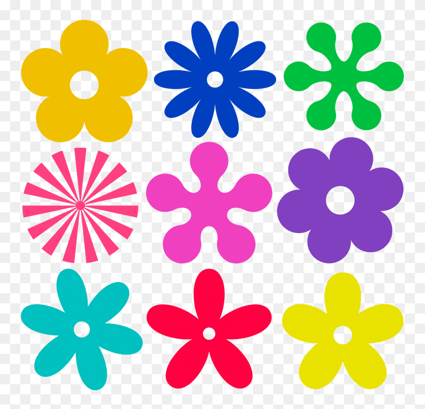 Flower Art Images - 60s Clipart