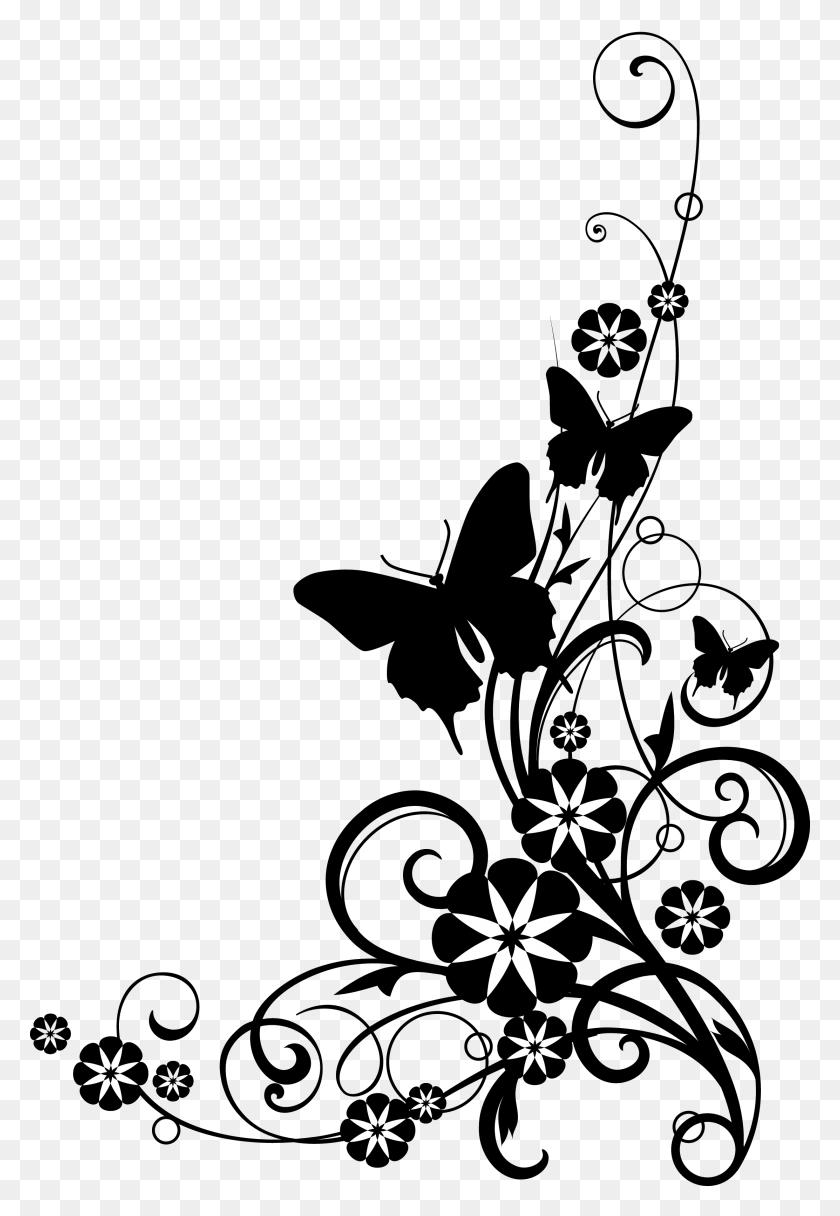 Flower Border Clipart Black And White Clip Art Images - Magnolia Flower Clip Art