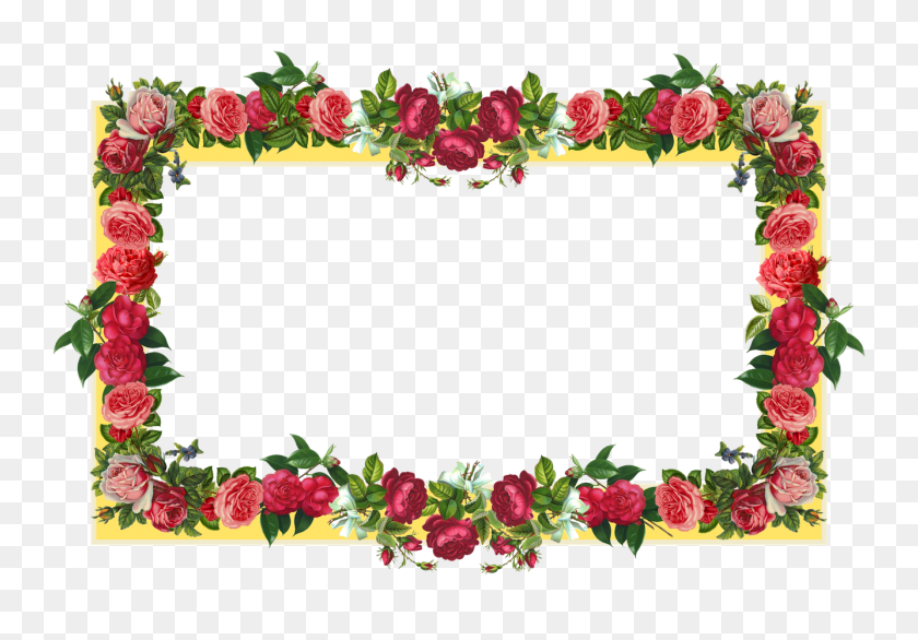 Flower Border Frame Stock Vector Freeimages For Flower Border - Free Floral Border Clipart