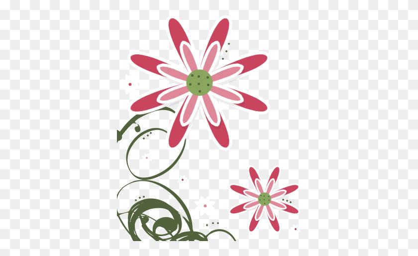370x454 Flower Clip Art - Pink Rose Clipart