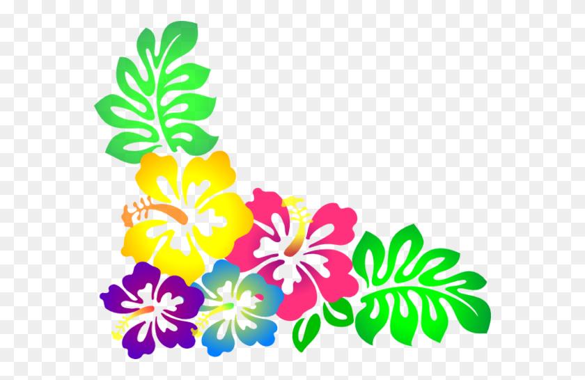 Flower Clip Art Free Hawaiian Flower Border Clip Art Hawaiian - Teal Flower Clipart