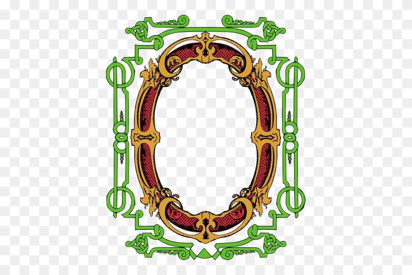 Flower Clip Art Images Oval Frame - Oval Frame Clipart