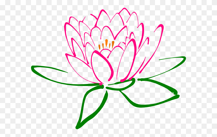 Flower Clip Art Lotus - Winter Flowers Clipart