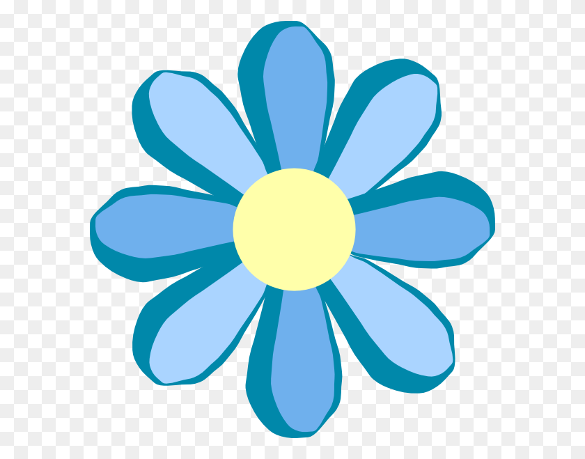 Flower Clipart Flower Clip Art Retro Flowers Vector - Teal Flower Clipart