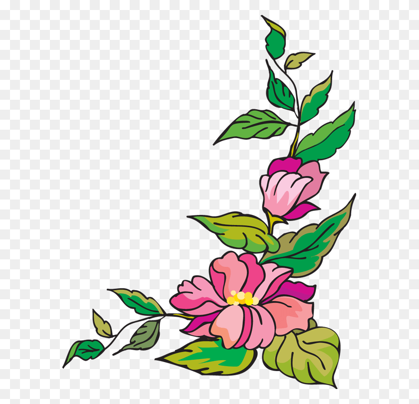 Flower Corner Cliparts - Corner Design Clipart
