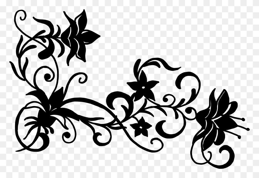 3179x2118 Flower Floral Design Clip Art - Free Corner Clipart
