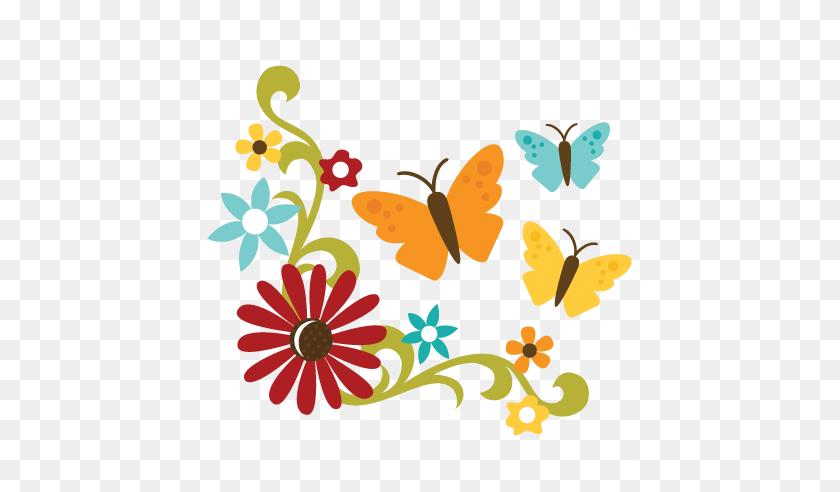 Flower Flourish - Simple Flourish Clipart