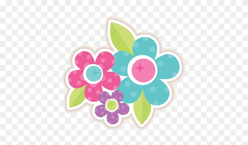 Flower Group Scrapbook Cute Clipart - Flower Silhouette Clip Art