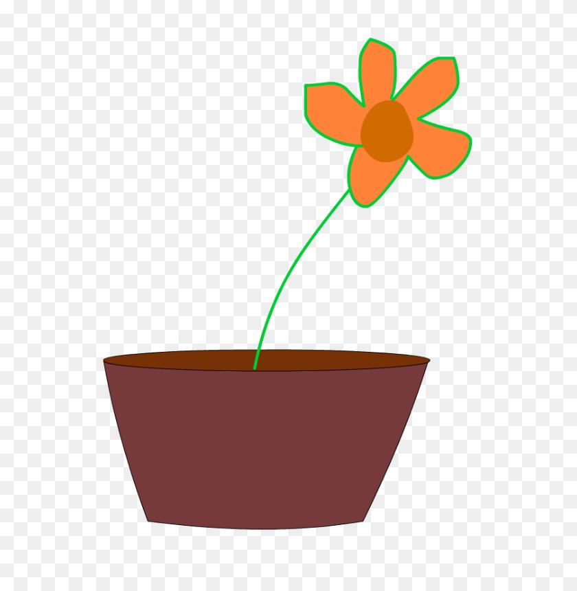 Flower In A Vase Free Vector - Flower Vase Clipart
