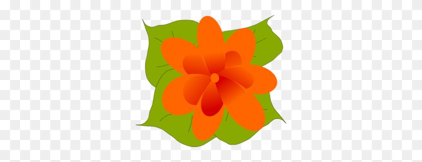 Flower Leaves Clipart - Moana Flower Clipart