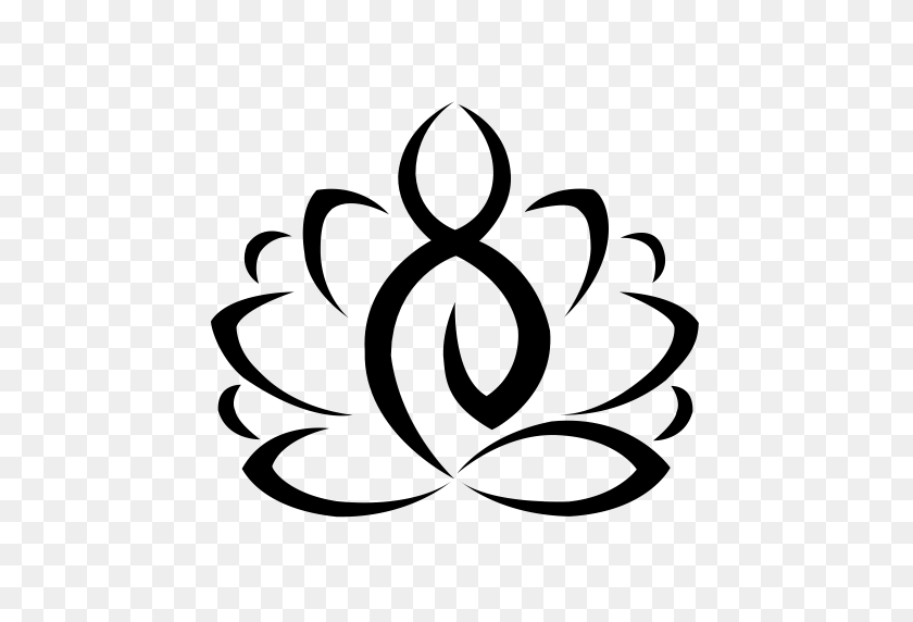 Flower, Lotus, Lotus Flower Icon With Png And Vector Format - Flower Icon PNG