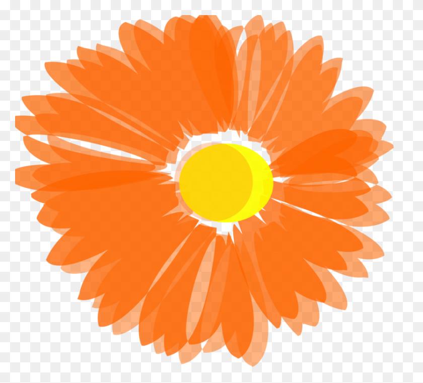 834x750 Flower Orange Blossom Computer Icons Floral Design - Orange Flower Clipart