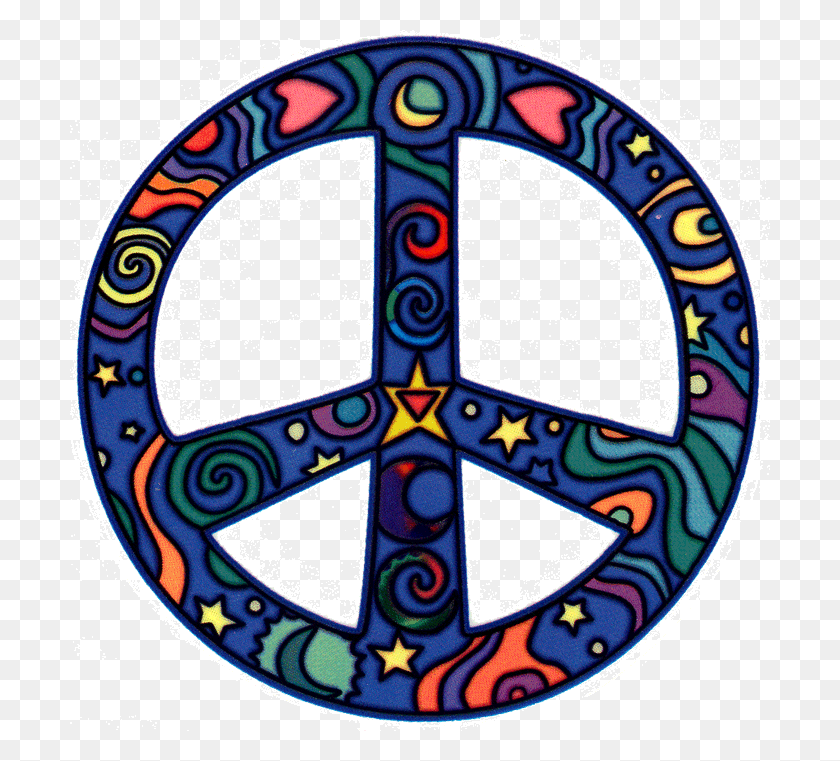 Flower Power, Love Peace Hippie Digital Clip Art Style - 60s Clipart
