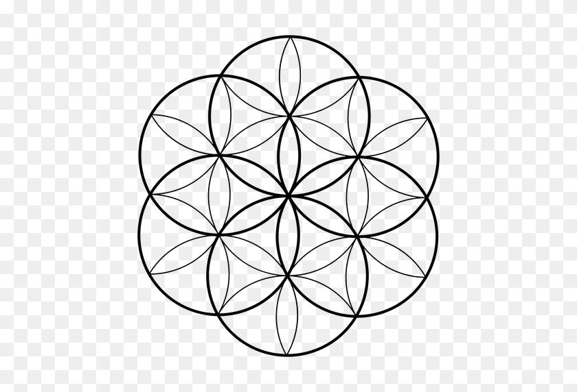 512x512 Flower Sacred Geometry - Sacred Geometry PNG