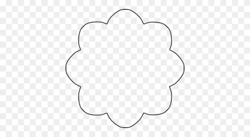 Flower Shape Clipart - Heart Shape Clipart