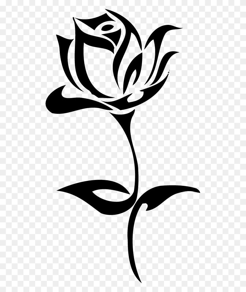 Flower Stencils, Tattoos, Art - Rose Outline PNG - Stunning free transparent png clipart images ...