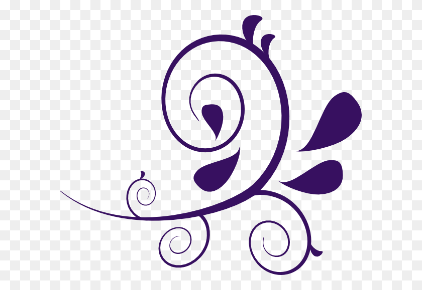 Flower Swirl Clip Art Purple Swirl Without Dots Clip Art - Understand Clipart