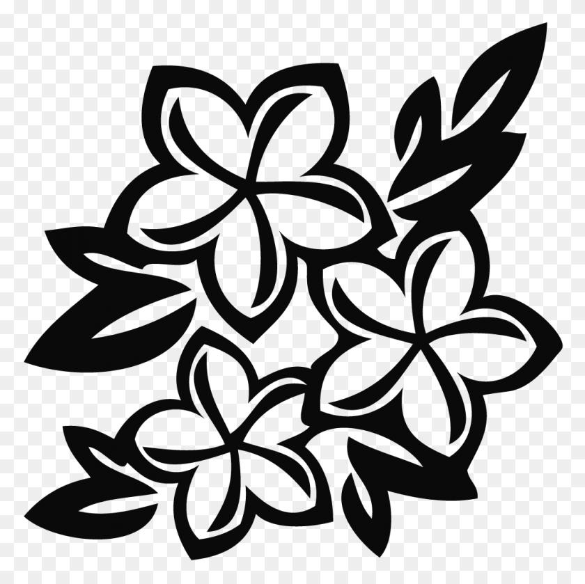 1000x1000 Flowers Clip Art Black - Free Clipart Flowers Bouquet
